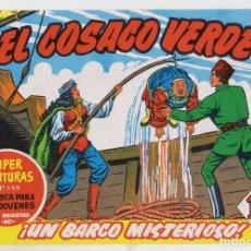 Tebeos: REEDICION FACSIMIL - EL COSACO VERDE - NÚMERO 40: ¡UN BARCO MISTERIOSO! - PERFECTO ESTADO. Lote 204142536