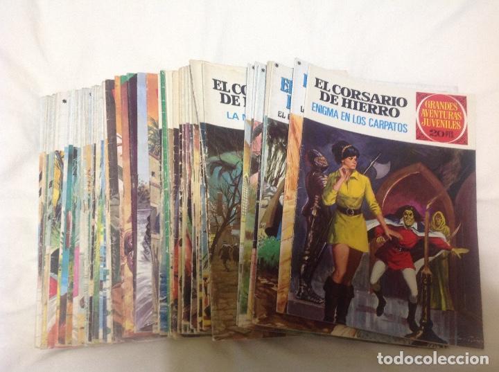Tebeos: EL CORSARIO DE HIERRO COMPLETA 58 NUMEROS PRIMERA EDICION - Foto 5 - 204305408