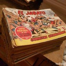 Tebeos: GRAN LOTE 162 TEBEOS / CÓMIC ORIGINALES EL JABATO ¡LEER ENVÍO! BRUGUERA 1959. Lote 204499460