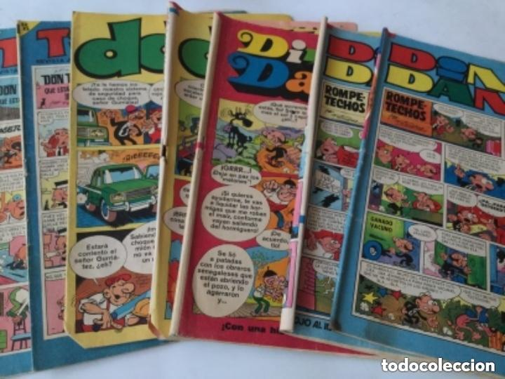 DIN DAN- 186-189-279– DDT-390-395– TIO VIVO- 314-317– SON 7 EJEMPLARES (Tebeos y Comics - Bruguera - Din Dan)