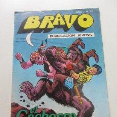 Tebeos: BRAVO- Nº 25 -EL CACHORRO Nº 13-SOBRE EL ABISMO - BRUGUERA 1976 CX57. Lote 204552890