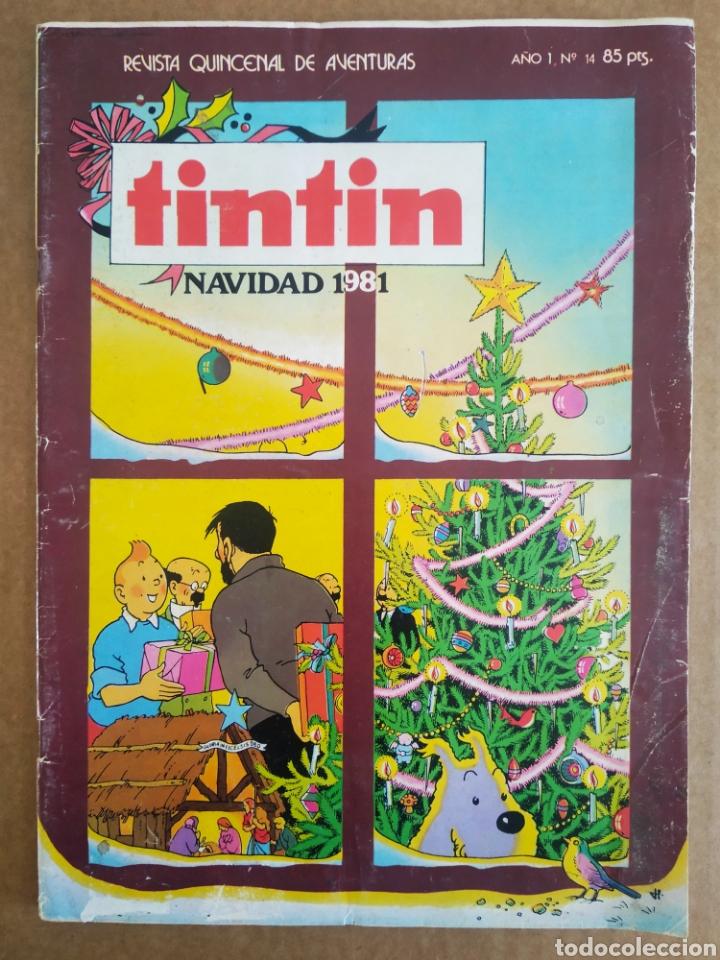 REVISTA TINTÍN N°14: NAVIDAD 1981 (BRUGUERA). CON TINTÍN EN EL CONGO. (Tebeos y Comics - Bruguera - Otros)