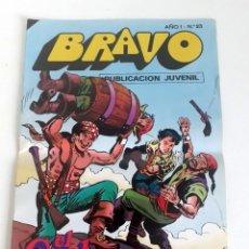 Tebeos: TEBEO BRAVO 1976 EDITORIAL BRUGUERA EL CACHORRO RODEADOS DE PELIGROS Nº23 12. Lote 204813030