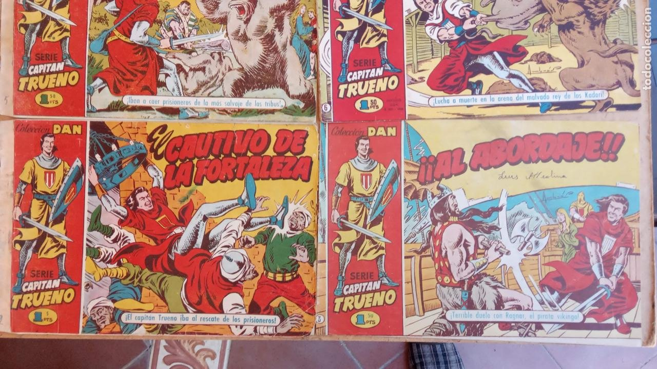 Tebeos: EL CAPITÀN TRUENO ORIGINAL AÑO 1956 COMPLETA Y SUELTA 1 AL 618 - VER TODAS LAS PORTADAS, MUY BUENA - Foto 27 - 204841075