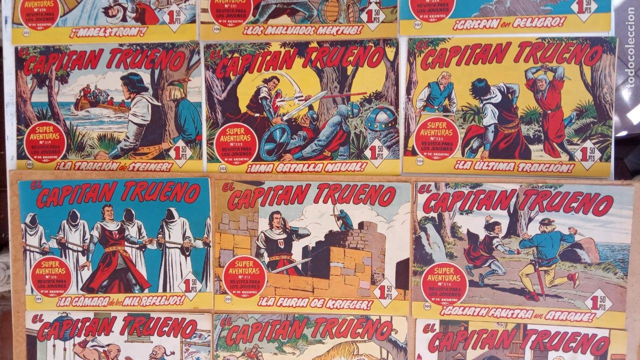 Tebeos: EL CAPITÀN TRUENO ORIGINAL AÑO 1956 COMPLETA Y SUELTA 1 AL 618 - VER TODAS LAS PORTADAS, MUY BUENA - Foto 97 - 204841075