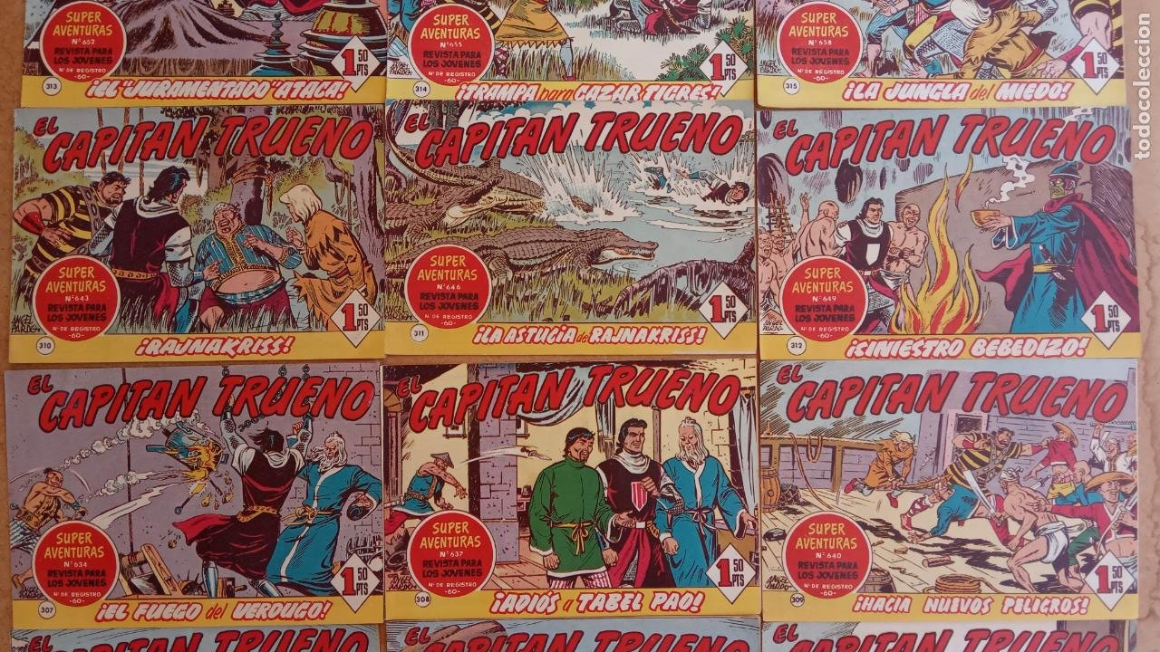 Tebeos: EL CAPITÀN TRUENO ORIGINAL AÑO 1956 COMPLETA Y SUELTA 1 AL 618 - VER TODAS LAS PORTADAS, MUY BUENA - Foto 144 - 204841075