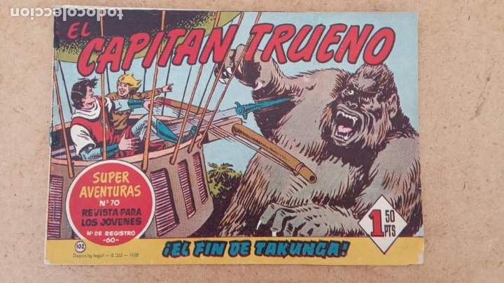 Tebeos: EL CAPITÀN TRUENO ORIGINAL AÑO 1956 COMPLETA Y SUELTA 1 AL 618 - VER TODAS LAS PORTADAS, MUY BUENA - Foto 429 - 204841075