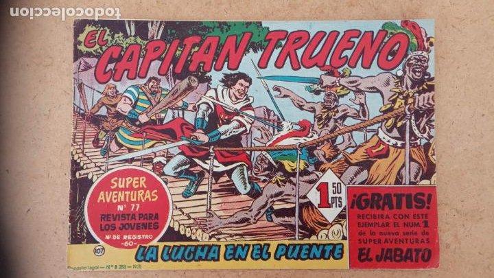 Tebeos: EL CAPITÀN TRUENO ORIGINAL AÑO 1956 COMPLETA Y SUELTA 1 AL 618 - VER TODAS LAS PORTADAS, MUY BUENA - Foto 438 - 204841075