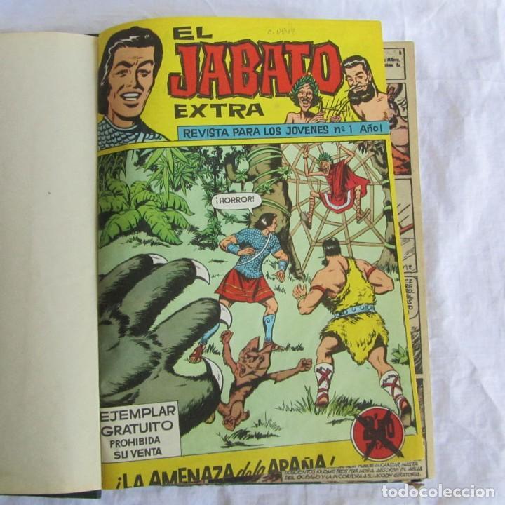19 NÚMEROS DE EL JABATO EXTRA 1962 ENCUADERNADOS, DEL 1 AL 18 + 22 (Tebeos y Comics - Bruguera - Jabato)
