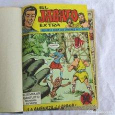 Tebeos: 19 NÚMEROS DE EL JABATO EXTRA 1962 ENCUADERNADOS, DEL 1 AL 18 + 22. Lote 205039872
