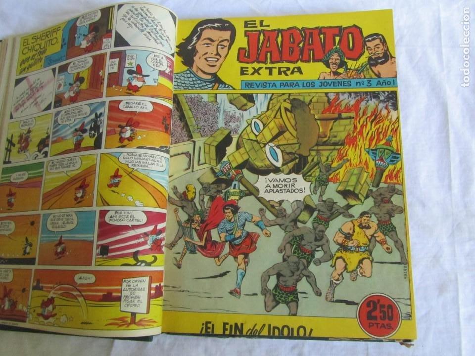 Tebeos: 19 números de El Jabato Extra 1962 encuadernados, del 1 al 18 + 22 - Foto 7 - 205039872