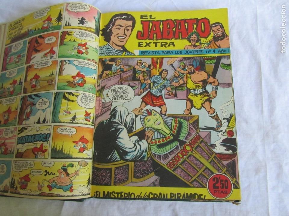 Tebeos: 19 números de El Jabato Extra 1962 encuadernados, del 1 al 18 + 22 - Foto 8 - 205039872