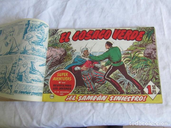 Tebeos: 66 números de El Cosaco Verde, encuadernados 1961 - Foto 6 - 205042187