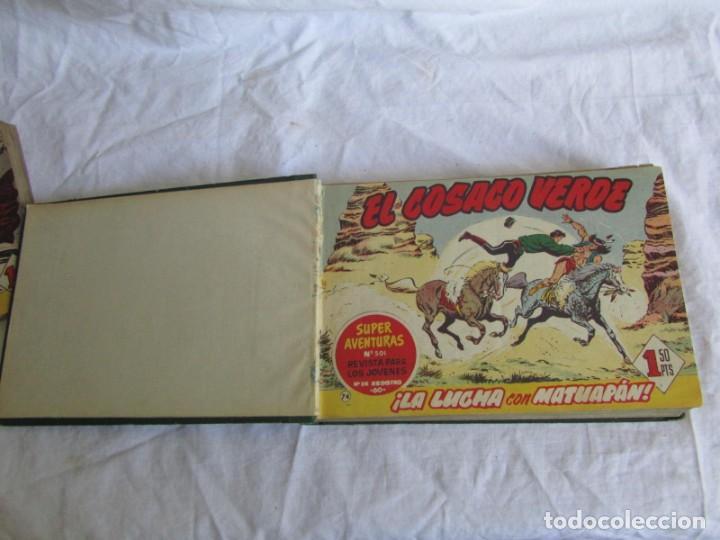 Tebeos: 66 números de El Cosaco Verde, encuadernados 1961 - Foto 7 - 205042187