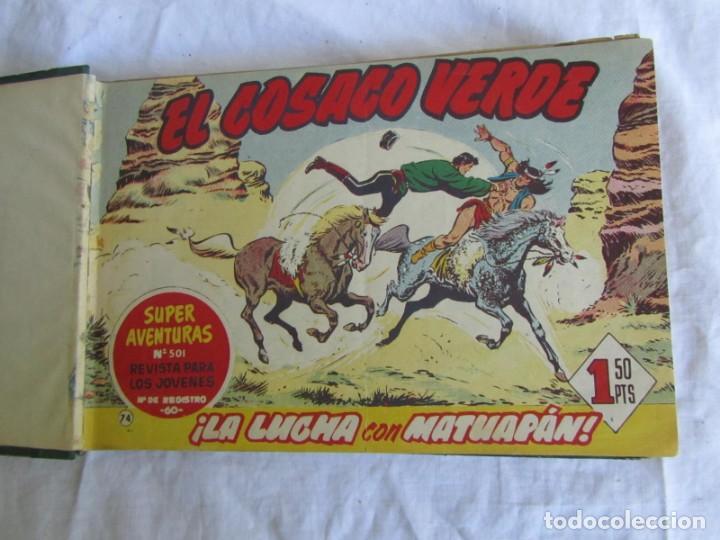 Tebeos: 66 números de El Cosaco Verde, encuadernados 1961 - Foto 8 - 205042187
