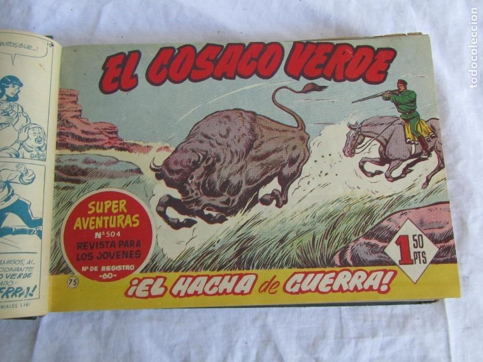 Tebeos: 66 números de El Cosaco Verde, encuadernados 1961 - Foto 9 - 205042187