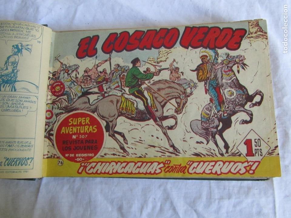 Tebeos: 66 números de El Cosaco Verde, encuadernados 1961 - Foto 10 - 205042187