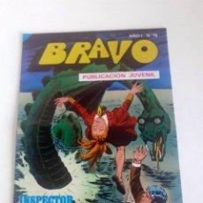 Tebeos: TEBEO BRAVO 1976 EDITORIAL BRUGUERA INSPECTOR DAN SUPLANTACION Nº78 39. Lote 205042361