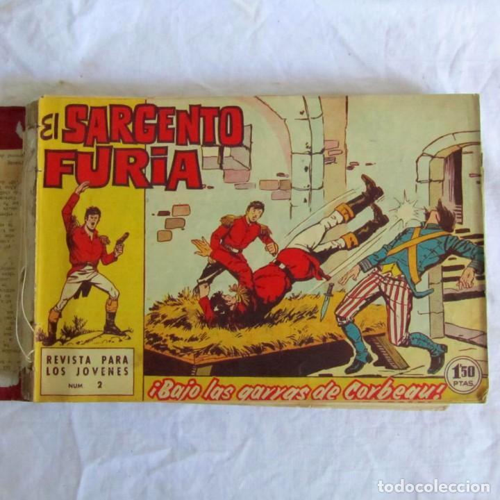 35 NÚMEROS DE SARGENTO FURIA, DE Nº 2 AL 36, 1962 (Tebeos y Comics - Bruguera - Otros)