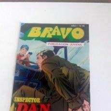 Tebeos: TEBEO BRAVO 1976 EDITORIAL BRUGUERA INSPECTOR DAN EL RAPTO DE STELLA Nº 74 37. Lote 205048497