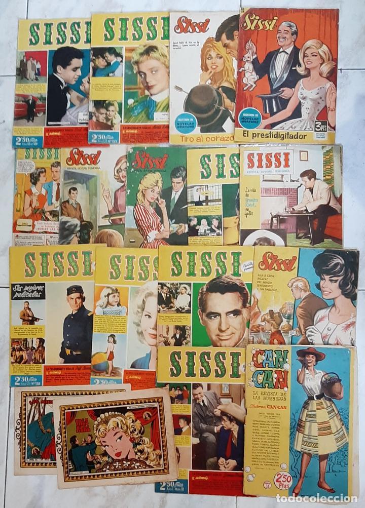 SISSI LOTE DE 14 NUMEROS DIFERENTES AÑOS 50-60. (Tebeos y Comics - Bruguera - Sissi)