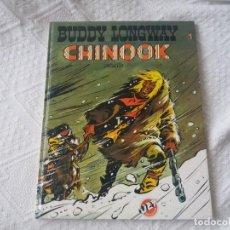 Tebeos: CHINOOK. BUDDY LONGWAY. JET BRUGUERA. PRIMERA EDICIÓN, 1983. N° 1. DERIB Y JOB. TAPA DURA.. Lote 205082130