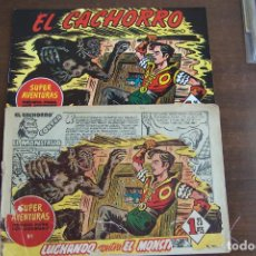 Tebeos: BRUGURERA EL CACHORRO Nº 158 ES SUPERAVENTURAS Nº 1. Lote 205101257
