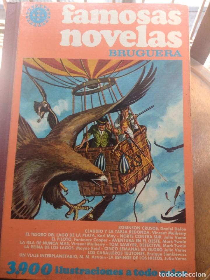 TOMO 12 FAMOSAS NOVELAS ILUSTRADAS ( DANIEL DAFOE, JULIO VERNE, FEMINORE COPER, MARK TWAIN, KARL MAY (Tebeos y Comics - Bruguera - Otros)