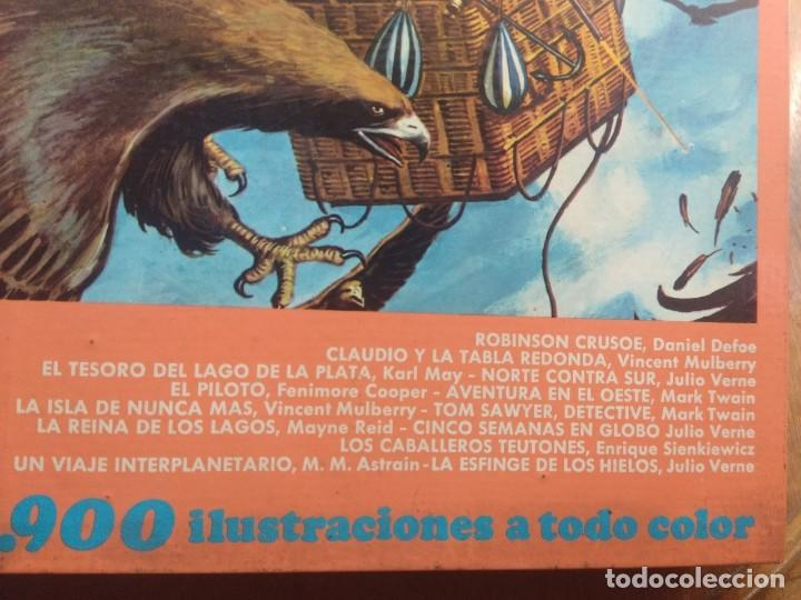 Tebeos: TOMO 12 FAMOSAS NOVELAS ILUSTRADAS ( DANIEL DAFOE, JULIO VERNE, FEMINORE COPER, MARK TWAIN, KARL MAY - Foto 2 - 205195080