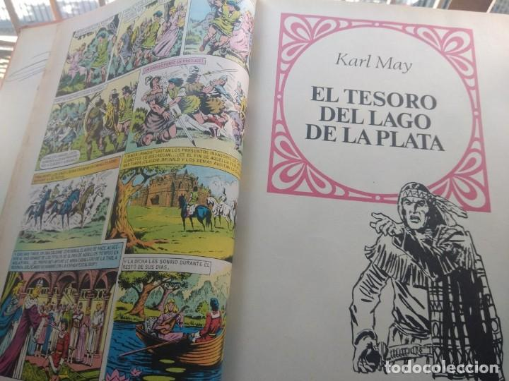 Tebeos: TOMO 12 FAMOSAS NOVELAS ILUSTRADAS ( DANIEL DAFOE, JULIO VERNE, FEMINORE COPER, MARK TWAIN, KARL MAY - Foto 4 - 205195080