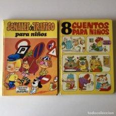Tebeos: LOTE 2 LIBROS COLECCIÓN HORAS ALEGRES - SEÑALES DE TRÁFICO Y 8 CUENTOS PARA NIÑOS - BRUGUERA. Lote 205313421