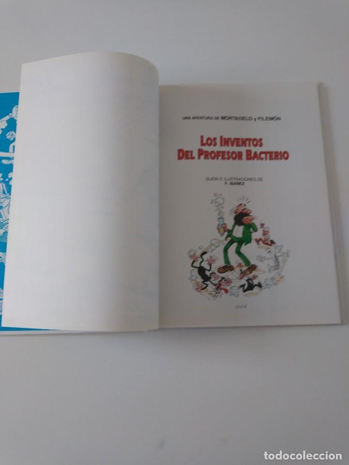 Tebeos: Mortadelo y Filemón Los Inventos del Profesor Bacterio 2 Edición 1998 Editorial Plural - Foto 5 - 205517592