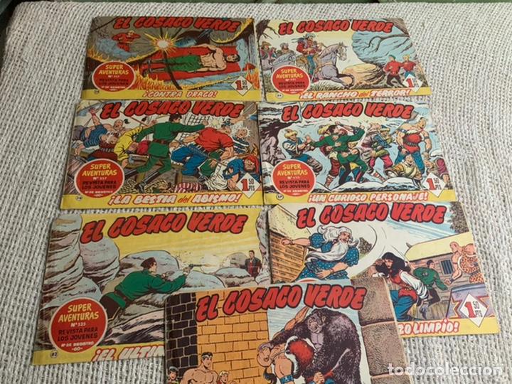 EL COSACO VERDE, LOTE 7 EJEMPLARES - ORIGINALES (Tebeos y Comics - Bruguera - Cosaco Verde)