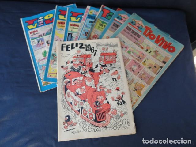 6 REVISTAS CÓMICS TIO VIVO + ALMANAQUE 1967. (Tebeos y Comics - Bruguera - Tio Vivo)