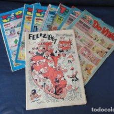 Tebeos: 6 REVISTAS CÓMICS TIO VIVO + ALMANAQUE 1967.. Lote 205596085
