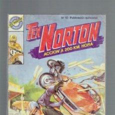 Tebeos: TEX NORTON N,8 20.000 DOLARES EN JUEGO Y N,10 EN EL PROTOTIPO COMICS BRUGUERA ACCION A 200 KM. HORA. Lote 205611913