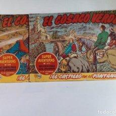 Tebeos: LOTE DE 2 TEBEOS DE EL COSACO VERDE.ORIGINALES DE LA EPOCA AÑO 1962. Lote 205718585