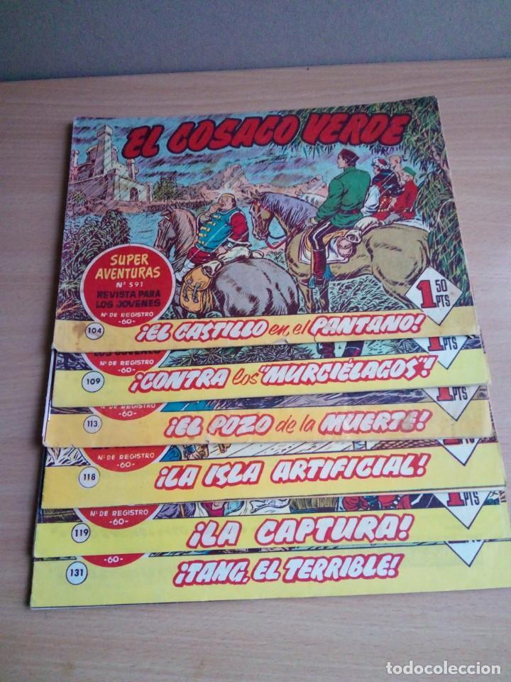 LOTE DE 6 TEBEOS DE EL COSACO VERDE.ORIGINALES DE LA EPOCA AÑO 1962 (Tebeos y Comics - Bruguera - Cosaco Verde)