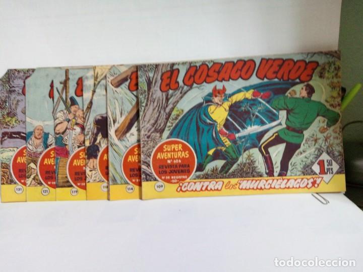 Tebeos: LOTE DE 6 TEBEOS DE EL COSACO VERDE.ORIGINALES DE LA EPOCA AÑO 1962 - Foto 2 - 205721975