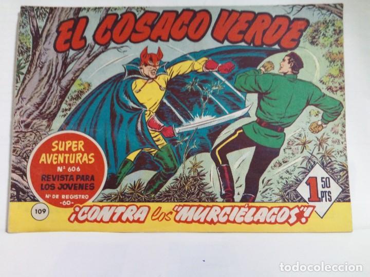 Tebeos: LOTE DE 6 TEBEOS DE EL COSACO VERDE.ORIGINALES DE LA EPOCA AÑO 1962 - Foto 4 - 205721975