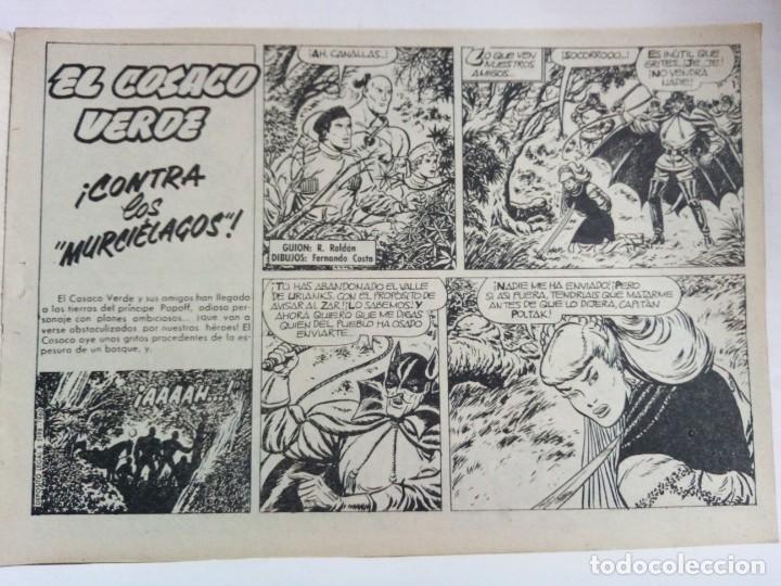 Tebeos: LOTE DE 6 TEBEOS DE EL COSACO VERDE.ORIGINALES DE LA EPOCA AÑO 1962 - Foto 6 - 205721975