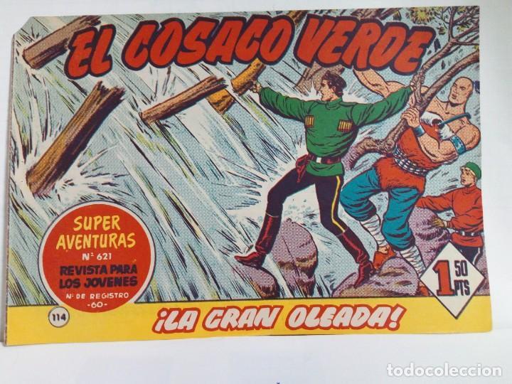 Tebeos: LOTE DE 6 TEBEOS DE EL COSACO VERDE.ORIGINALES DE LA EPOCA AÑO 1962 - Foto 8 - 205721975