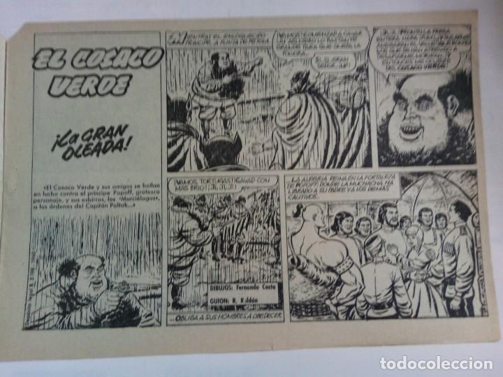 Tebeos: LOTE DE 6 TEBEOS DE EL COSACO VERDE.ORIGINALES DE LA EPOCA AÑO 1962 - Foto 10 - 205721975
