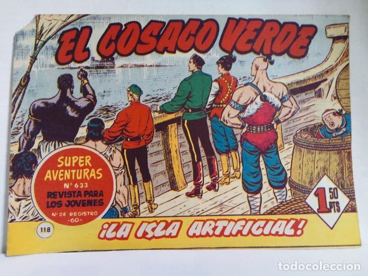 Tebeos: LOTE DE 6 TEBEOS DE EL COSACO VERDE.ORIGINALES DE LA EPOCA AÑO 1962 - Foto 12 - 205721975