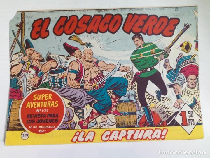 Tebeos: LOTE DE 6 TEBEOS DE EL COSACO VERDE.ORIGINALES DE LA EPOCA AÑO 1962 - Foto 15 - 205721975