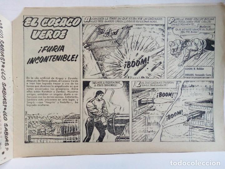 Tebeos: LOTE DE 6 TEBEOS DE EL COSACO VERDE.ORIGINALES DE LA EPOCA AÑO 1962 - Foto 20 - 205721975
