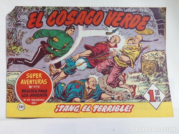 Tebeos: LOTE DE 6 TEBEOS DE EL COSACO VERDE.ORIGINALES DE LA EPOCA AÑO 1962 - Foto 22 - 205721975