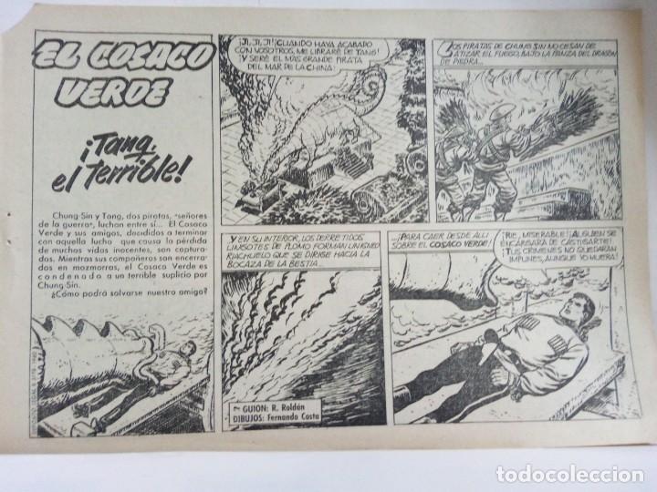Tebeos: LOTE DE 6 TEBEOS DE EL COSACO VERDE.ORIGINALES DE LA EPOCA AÑO 1962 - Foto 24 - 205721975