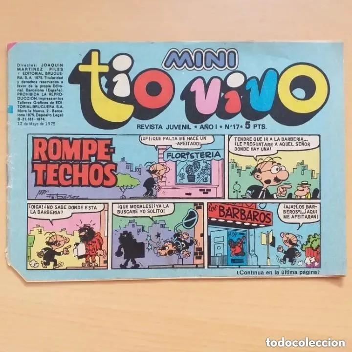 MINI TIO VIVO NUM 17. BRUGUERA (Tebeos y Comics - Bruguera - Tio Vivo)
