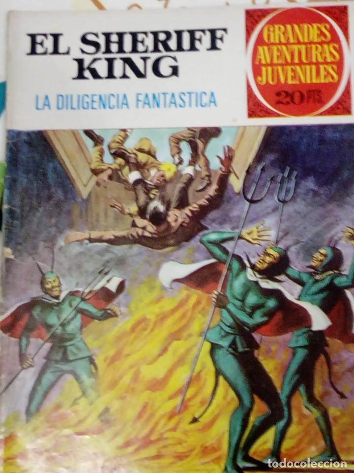 EL SHERIFF KING - LA DILIGENCIA FANTASTICA - GRANDES AVENTURAS JUVENILES Nº 60 - BRUGUERA 1975 (Tebeos y Comics - Bruguera - Sheriff King)